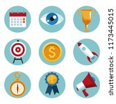 set of business icons | Shutterstock .eps vector #1173445015