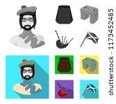 highlander  scottish viking ... | Shutterstock .eps vector #1173452485