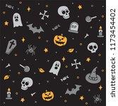 halloween holiday seamless... | Shutterstock .eps vector #1173454402