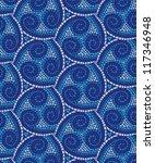 blue mosaic background texture... | Shutterstock .eps vector #117346948