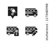 voyage icon. 4 voyage vector... | Shutterstock .eps vector #1173480988