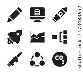 startup icon. 9 startup vector... | Shutterstock .eps vector #1173483652