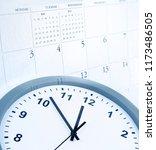 clock face and calendar... | Shutterstock . vector #1173486505