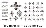 set of tribal decorative...   Shutterstock .eps vector #1173489592