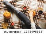 women's hands and feet in... | Shutterstock . vector #1173495985