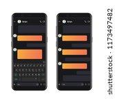 smartphone dark style chatting...
