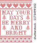 christmas pattern may your days ... | Shutterstock .eps vector #1173499102