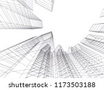 architecture building 3d vector ... | Shutterstock .eps vector #1173503188