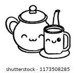 kawaii coffee mug | Shutterstock .eps vector #1173508285