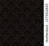 vector art deco style seamless... | Shutterstock .eps vector #1173512635
