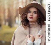young healthy woman portrait.... | Shutterstock . vector #1173516025