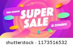 super sale for web app banner.... | Shutterstock .eps vector #1173516532