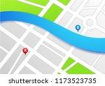 map navigation system  gps... | Shutterstock .eps vector #1173523735