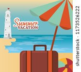 summer vacations beach with... | Shutterstock .eps vector #1173526222
