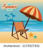 summer enjoy with beach chair | Shutterstock .eps vector #1173527332