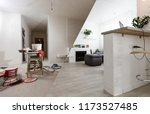 home renovation empty room... | Shutterstock . vector #1173527485