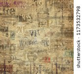 old grunge newspaper paper...   Shutterstock . vector #1173532798