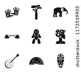 south africa icons set. simple... | Shutterstock . vector #1173539905