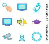 web repair icons set. cartoon...