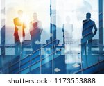 group of business partner... | Shutterstock . vector #1173553888
