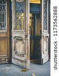 beatiful old doors of jaffa ... | Shutterstock . vector #1173562888