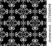 vintage black and white floral... | Shutterstock .eps vector #1173568348