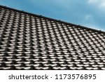 close up photo of tiled roof... | Shutterstock . vector #1173576895