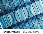 transparent walls reflecting... | Shutterstock . vector #1173576898