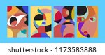 vector abstract colorful...   Shutterstock .eps vector #1173583888