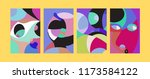 vector abstract colorful...   Shutterstock .eps vector #1173584122