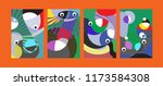 vector abstract colorful... | Shutterstock .eps vector #1173584308