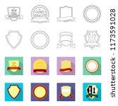 vector illustration of emblem... | Shutterstock .eps vector #1173591028