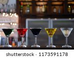 colorful cocktails party at bar | Shutterstock . vector #1173591178