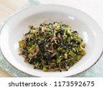 daikon radish leaves furikake | Shutterstock . vector #1173592675