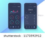 conceptual black mobile phone... | Shutterstock .eps vector #1173592912