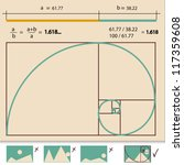 golden ratio golden proportion... | Shutterstock .eps vector #117359608