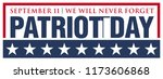 9 11 patriot day. september 11  ... | Shutterstock .eps vector #1173606868
