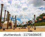 Stone Pillars At Thuparamaya...