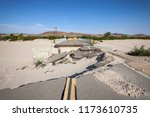 washed out flood damaged... | Shutterstock . vector #1173610735