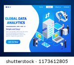 global data analytics... | Shutterstock .eps vector #1173612805