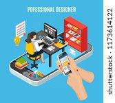 graphic design service concept... | Shutterstock .eps vector #1173614122