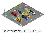 transportation realistic... | Shutterstock .eps vector #1173617788
