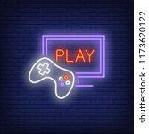 online videogame neon icon....   Shutterstock .eps vector #1173620122