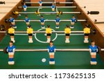 the football game in table | Shutterstock . vector #1173625135