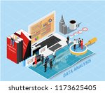 isometric flat design.concept...   Shutterstock .eps vector #1173625405