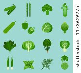 green vegetables collection ... | Shutterstock .eps vector #1173629275
