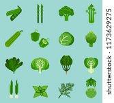 green vegetables collection ... | Shutterstock .eps vector #1173629275