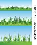 set of grass designs   Shutterstock .eps vector #11736583