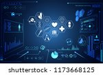 abstract health medical ui... | Shutterstock .eps vector #1173668125