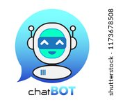 chatbot icon. chatbot logo... | Shutterstock .eps vector #1173678508
